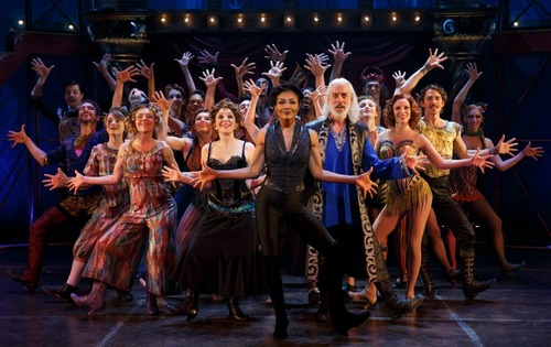 "The Broadway cast of ""Pippin,"" above. The first national touring production of the iconic musical, with circus creations by Gypsy Snider, launches in Denver on Sept. 6. Photo by Joan Marcus."
