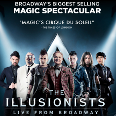 The Illusionists, February 28 - March 5, Music Hall at Fair Park