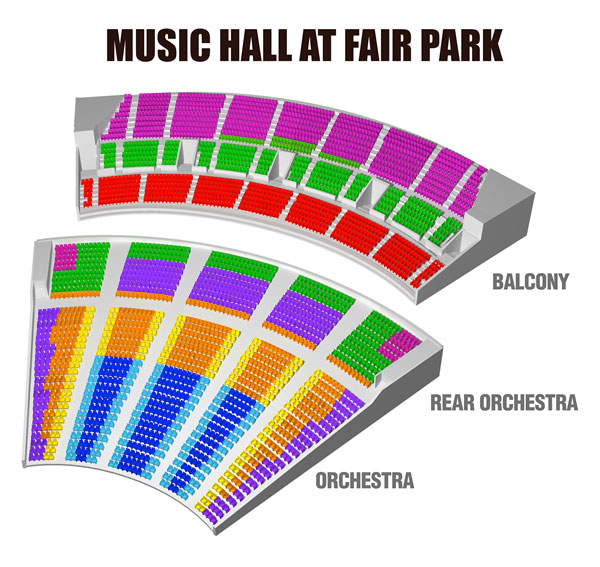 Music Hall at Fair Park Seating Chart