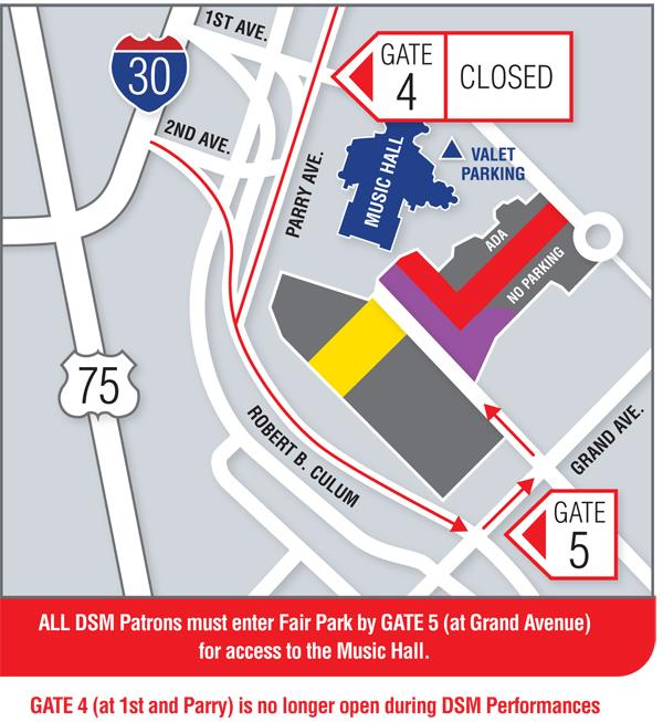 Dallas Summer Musicals Parking Map 17/18 Season