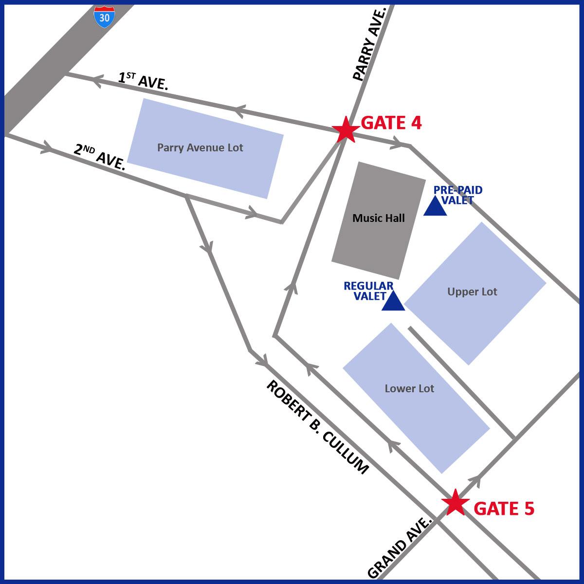 DSM Parking Map