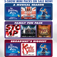 3-SHOW MINI PACKAGES ON SALE NOW!