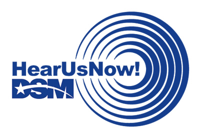 DSM Hear Us Now Logo