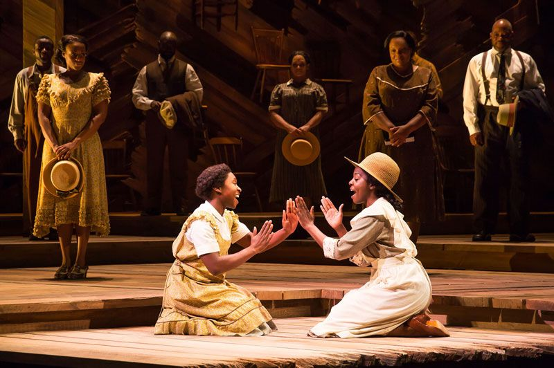 Cynthia Erivo and Joaquina Kalukango in THE COLOR PURPLE on Broadway. Photo by Matthew Murphy 2016