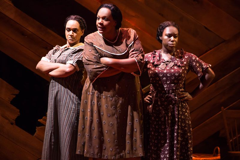 Grasan Kingsberry, Rema-Webb, Carrie-Compere and Bre Jackson- n THE COLOR PURPLE on Broadway. Photo by Matthew Murphy 2016