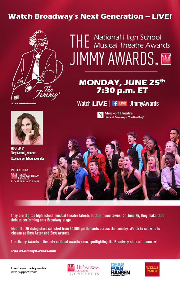 Dallas Summer Musicals High School Musical Theatre Awards Best Actor and Actress attend The Jimmy Awards in New York City and perform on a Broadway stage.