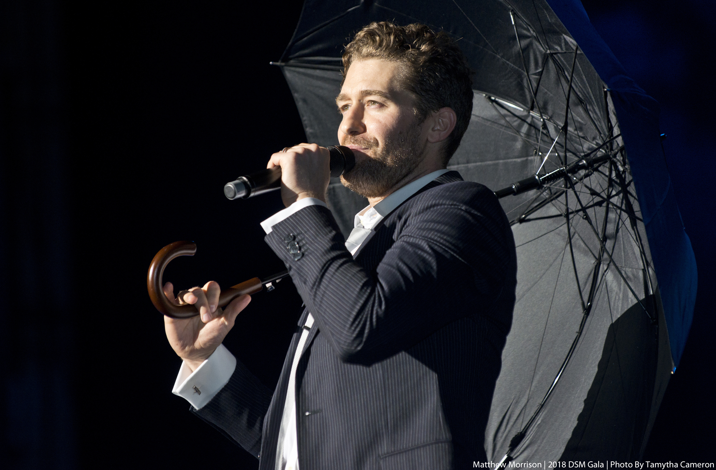 Matthew Morrison performing at 2018 DSM Gala