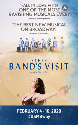 THE BAND'S VISIT is presented by Dallas Summer Musicals February 4 -16, 2020