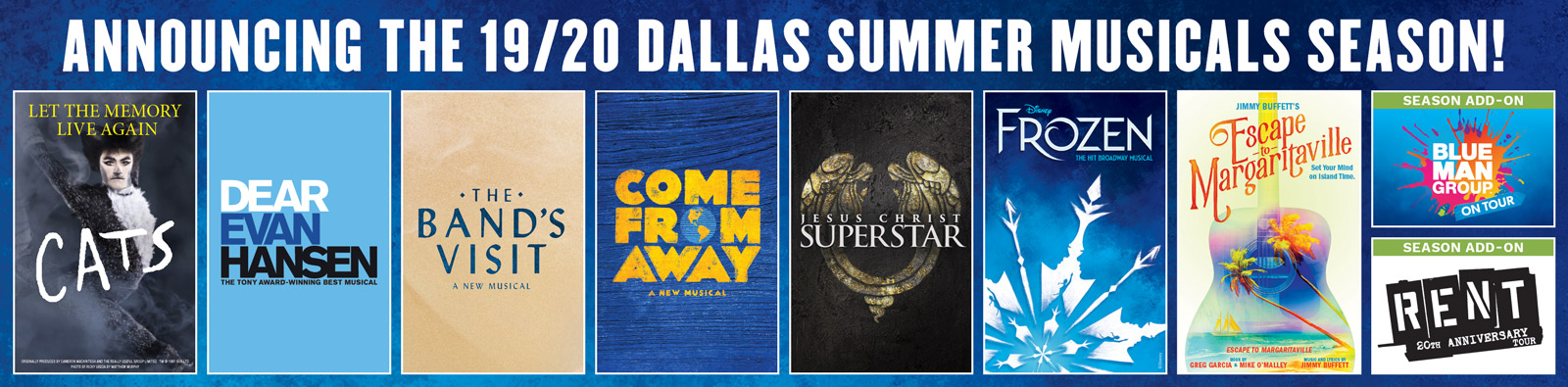 DSM Announcing the 19/20 Dallas Summer Musicals Season