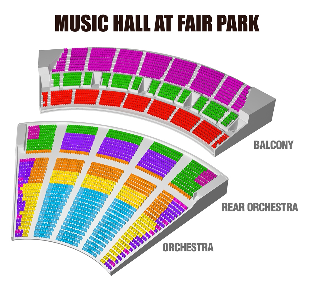 19/20 Dallas Summer Musicals Seating Chart