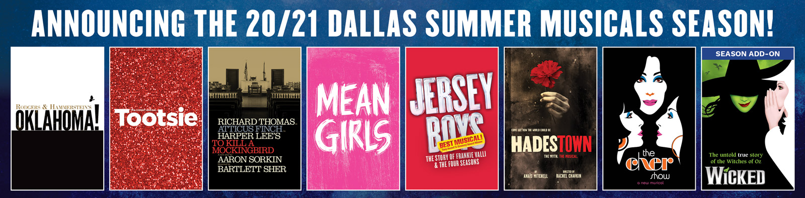 DSM Announcing the 20/21 Dallas Summer Musicals Season